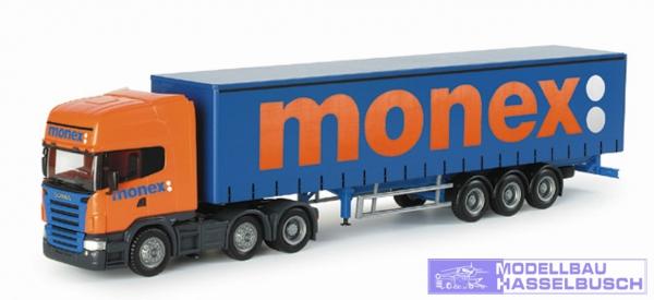 "Scania R TL Gardinenplanen-Sattelzug ""Monex"" (GB)"